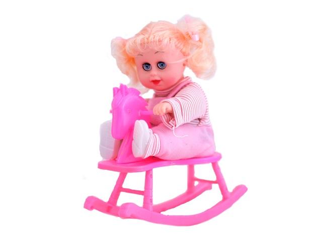 Кукла на лошади Swing Hobby Horse Doll 21 см на батарейках в коробке арт. 3366