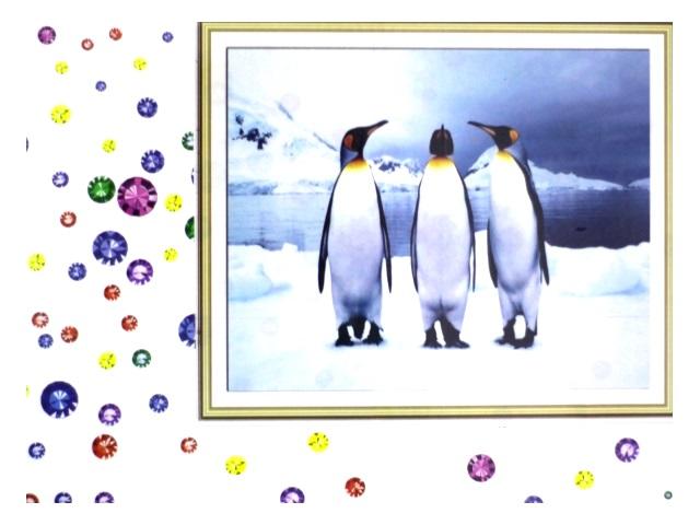 Алмазная вышивка (алмазная мозаика) 40*50 см Пингвины, Mazari М-6433