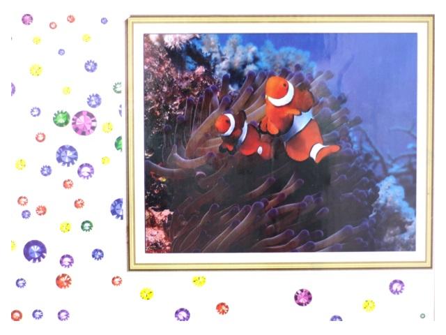Алмазная вышивка (алмазная мозаика) 40*50 см Рыба - Клоун и кораллы, Mazari М-6433