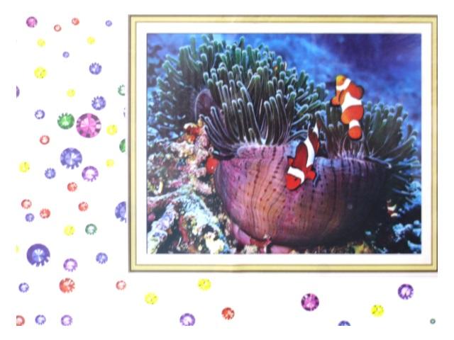 Алмазная вышивка (алмазная мозаика) 40*50 см Рыба клоун, Mazari М-6433