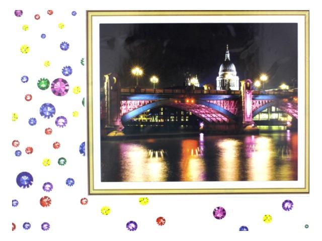 Алмазная вышивка (алмазная мозаика) 40*50 см Вечерний мост, Mazari М-6436