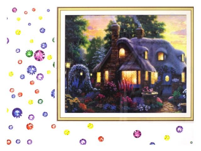 Алмазная вышивка (алмазная мозаика) 40*50 см Чудесный домик, Mazari М-6437