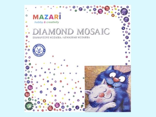 Алмазная вышивка (алмазная мозаика) 27*27 см Смешные котики, Mazari М-6438
