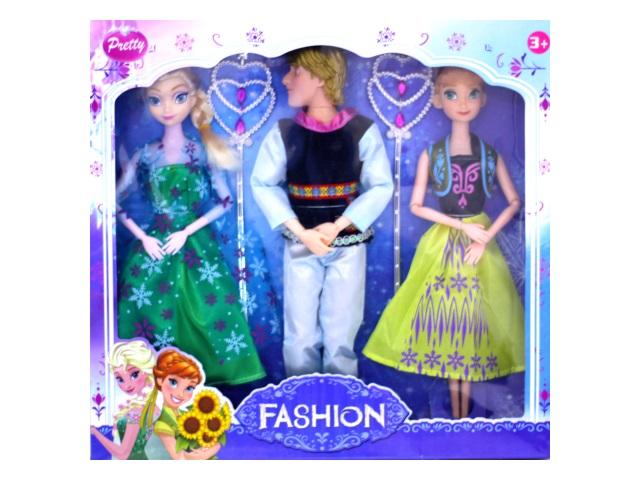 Кукла Холодное сердце, набор 3 шт. в коробке, Tongde 9239B