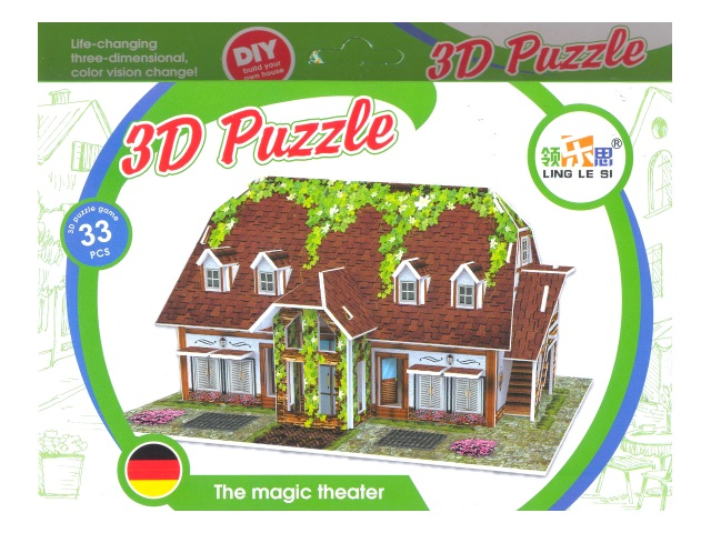 Пазл 3D мягкий изолон Дом, Tongde в коробке D131-D132D-136D-141