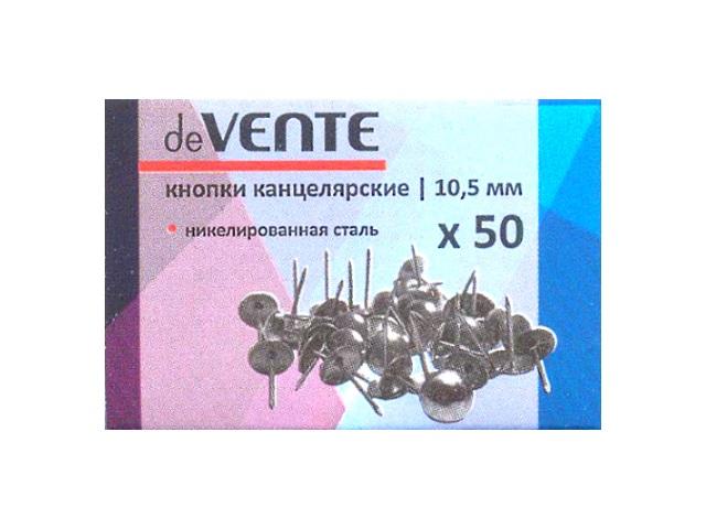 Кнопки оцинкованные 10.5 мм, 50 шт в упаковке, DeVente 4132403