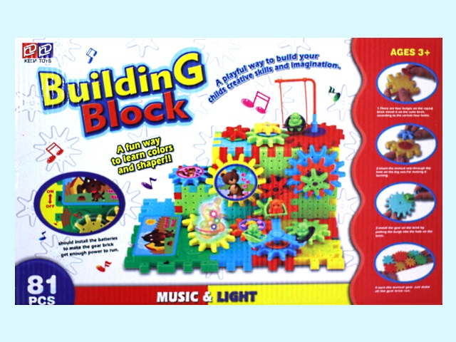 Конструктор 81 деталь Building Blok, свет и музыка, арт. 2809