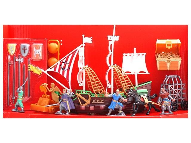 Корабль Большая битва-2 с аксессуарами пластик в коробке, Рыжий кот И-7960