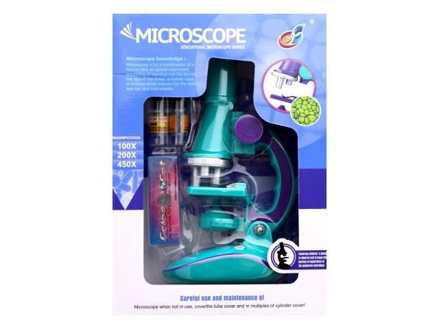 Микроскоп 25 см пластиковый в коробке, Qinzhengyuan C2127