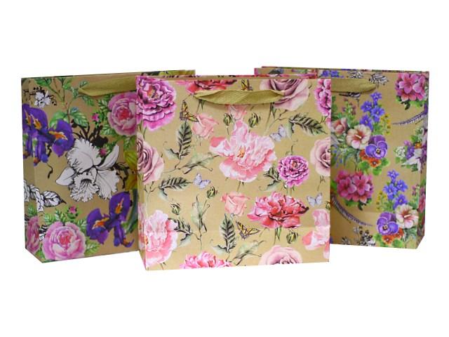 Пакет подарочный бумажный Вернисаж 25*25*10 см, Mazari М-8019