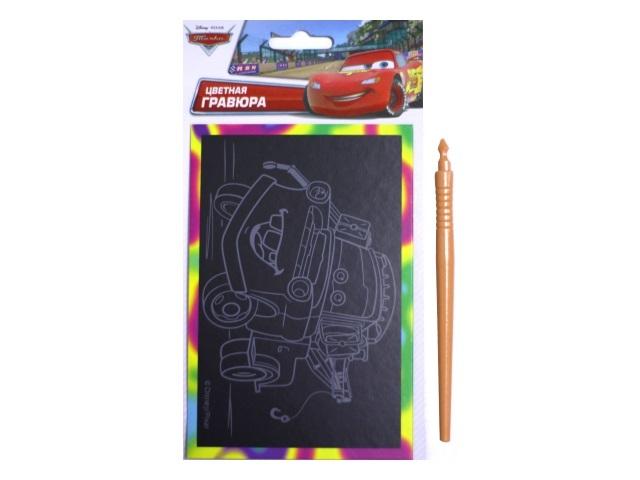 Гравюра А6 Disney Тачки, Multi Art в пакете