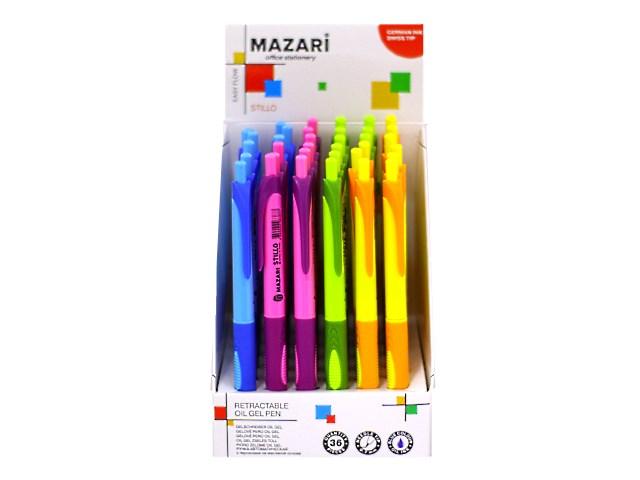 Ручка шариковая автоматическая, синяя 0.7 мм, Stillo Easy Flow, Mazari М-5763-D36