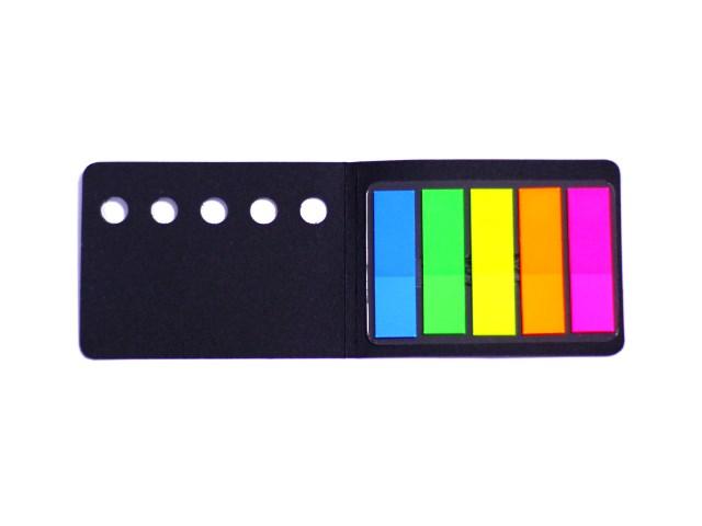Стикер-закладка 44*12 мм 5 цветов по 20 листов пластиковый неоновый, Mazari М-4552, 48л