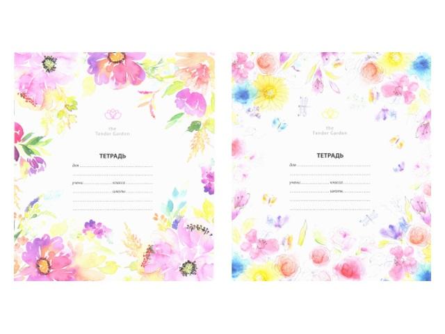 Тетрадь в клетку 12 листов Цветы, Art Space 14298