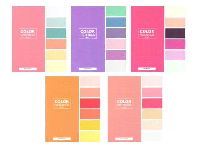 Тетрадь в клетку 48 листов Моноколор Цветочные сочетания, Art Space 13699