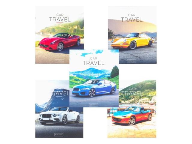 Тетрадь в клетку 48 листов Авто Car Travel, Art Space 11923