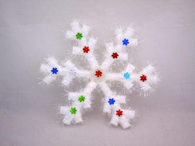 Новогодний декор Снежинка 25 см в пакете, арт. 12281