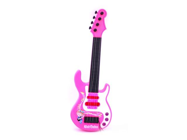 Гитара Best Guitar 44 см на батарейках пластик в сумке, Наша игрушка 8017