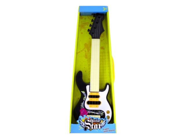 Гитара Guitar Star 47 см на батарейках пластик в коробке, Наша игрушка 8013С