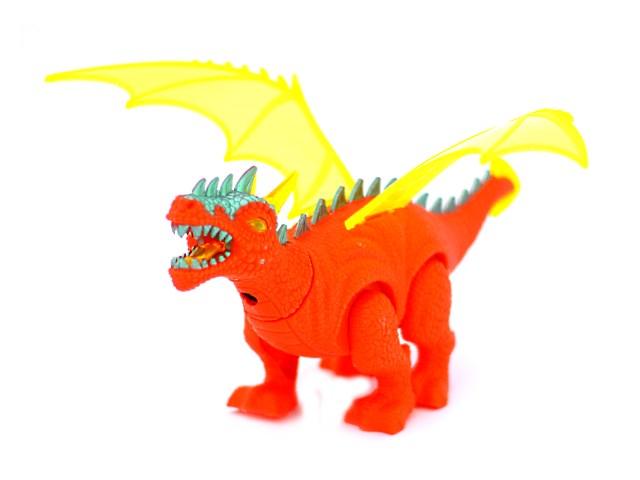 Развив игрушка Динозавр на бат свет звук проектор 22см Наша игрушка в кор 8772/1