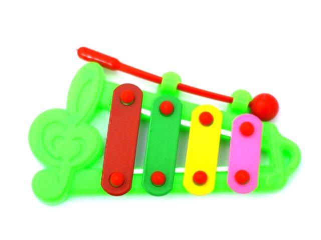Ксилофон 12 см пластик в пакете, Наша игрушка DL002-1