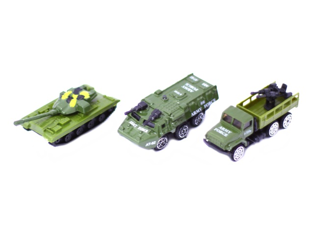 Машина мет Ассорти Военная Military 7см Наша игрушка в кор 102М-24/24