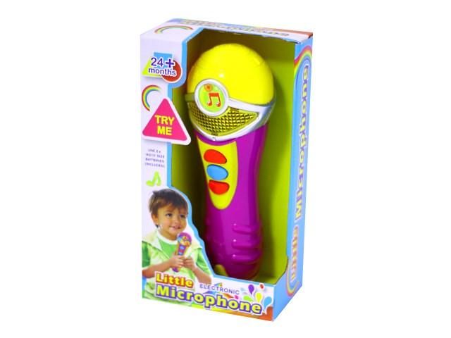 Микрофон музыкальный 18 см пластик в коробке, Наша игрушка 65117