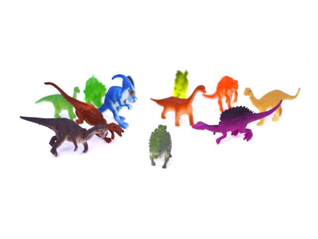 Динозавр набор 12шт резин 10-12см Dinosaur world Наша игрушка в пак К112/1