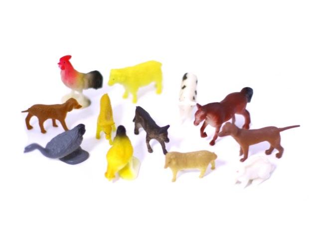 Домашние животные пласт 4-8см 12шт Farm Animal Наша игрушка 2С251/1