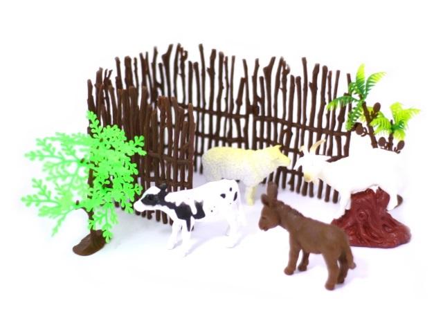 Животные набор 4шт Домашние пласт + аксесс Farm animal Наша игрушка в пак 2С214-1/1