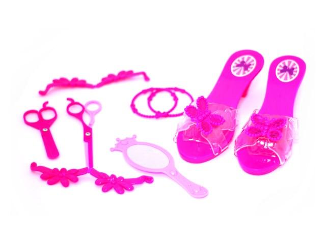Набор для девочек с туфлями Красотка, 9 предметов в пакете, Наша игрушка 022