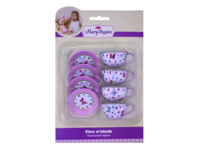 Посуда  8предм мет Бабочка Mary Poppins Наша игрушка блистер 453023/1