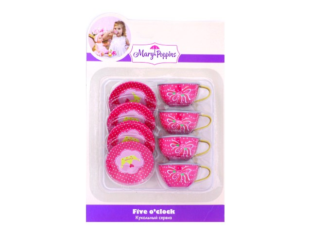 Посуда  8предм мет Корона Mary Poppins Наша игрушка блистер 453022/11