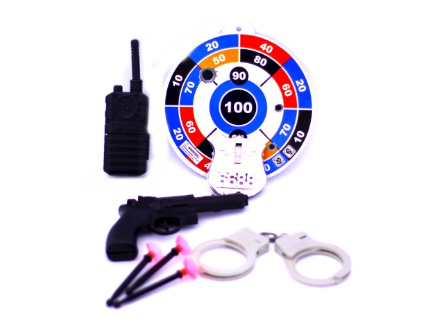 Полицейский набор  8предм пласт Полиция Наша игрушка в пак НY624/1