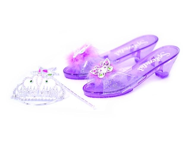 Аксессуары для девочек Туфли и украшения, 3 предмета в сумке, Наша игрушка NP109Е