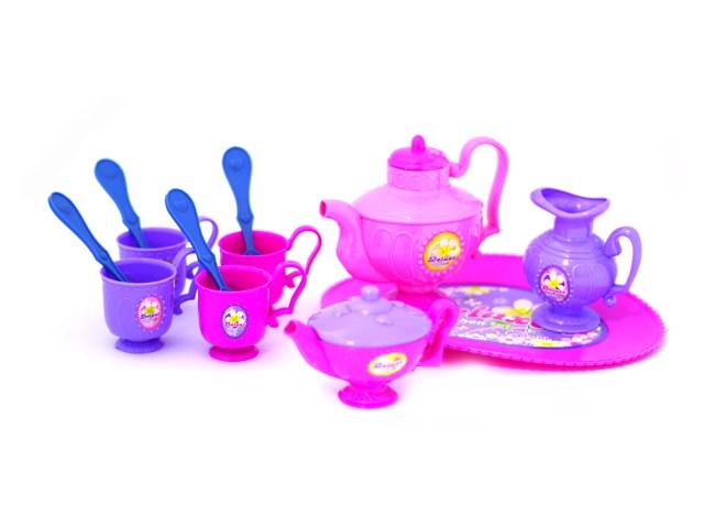 Посуда 12предм пласт Чаепитие Наша игрушка в пак Y5399126/1