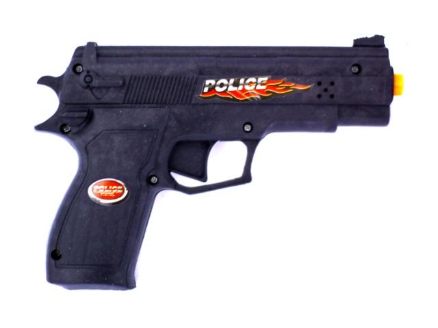 Пистолет на бат пласт свет звук Наша игрушка в пак 8601А-1/1