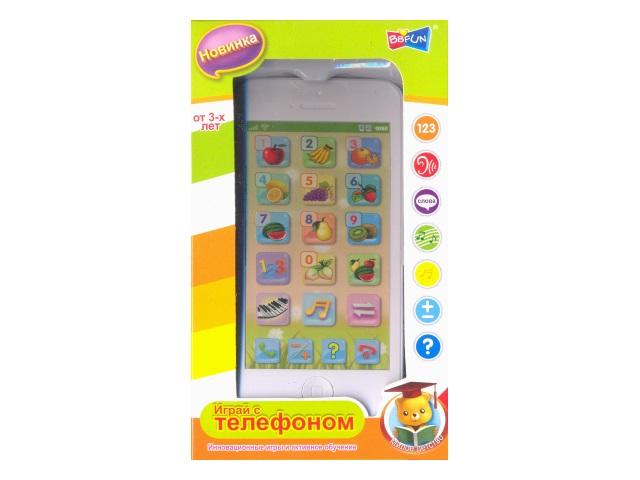 Обучающий телефон Фрукты Наша игрушка в кор 82032-4RE/1