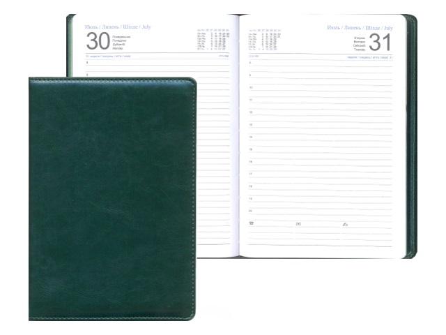 Ежедневник датированный 2018 г. А5 164 листа кожзам зеленый, Josef Otten 3325-2018-04