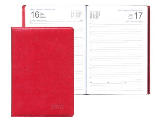 Ежедневник датированный 2018 г. А5 кожзам 164 листа бордовый, Josef Otten 88025-2018-05