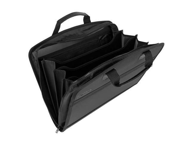 Портфель А3 4 отделения пластиковый на молнии черный, Kanzfile РРB-17a