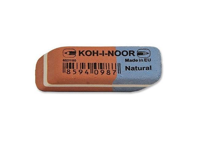 Ластик, прямоугольный, красно-синий, 41*13*7мм., Koh-I-Noor