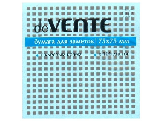 Стикер 75*75 мм 100 листов голубой, DeVente 2010328