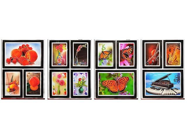 Наклейки для декора 3D, металлик, Картины 30*69см., Tukzar