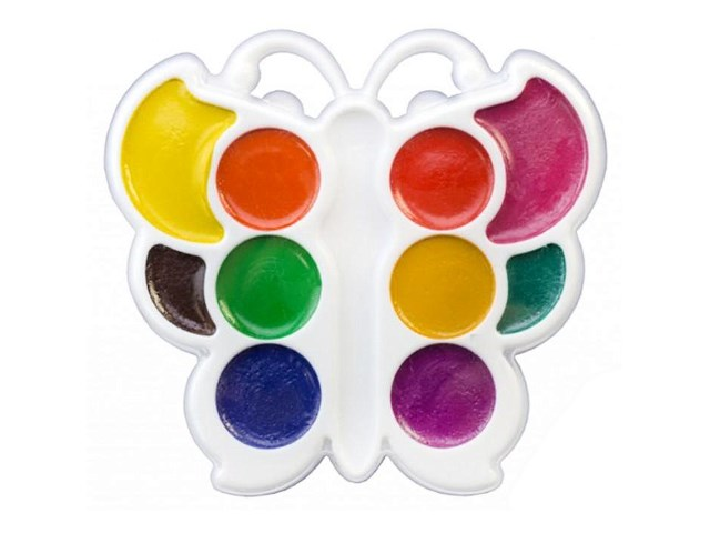 Краски акварельные медовые 10 цветов Бабочка, Луч 10С 548-08