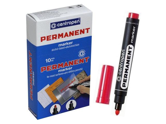 Маркер перманентный красный круглый 2.5 мм, Centropen 8566