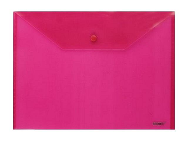 Папка конверт на кнопке, А4, красная, Proff Standard