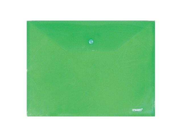 Папка конверт на кнопке, А4, зеленая, Proff Standart