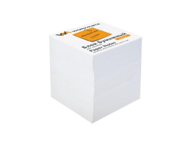 Бумага для заметок белая не склеенная 80*80 мм 800 листов, Workmate 003003400