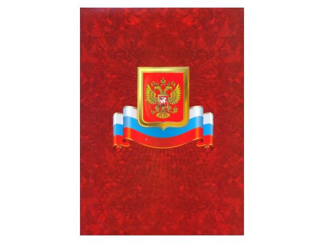 """Папка адресная """"Герб Флаг"""", А4, картон ламинированный, без тиснения, Имидж"""